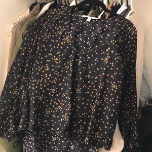 Lovers + Friends star print blouse